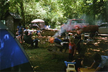 Camping at Nottley River